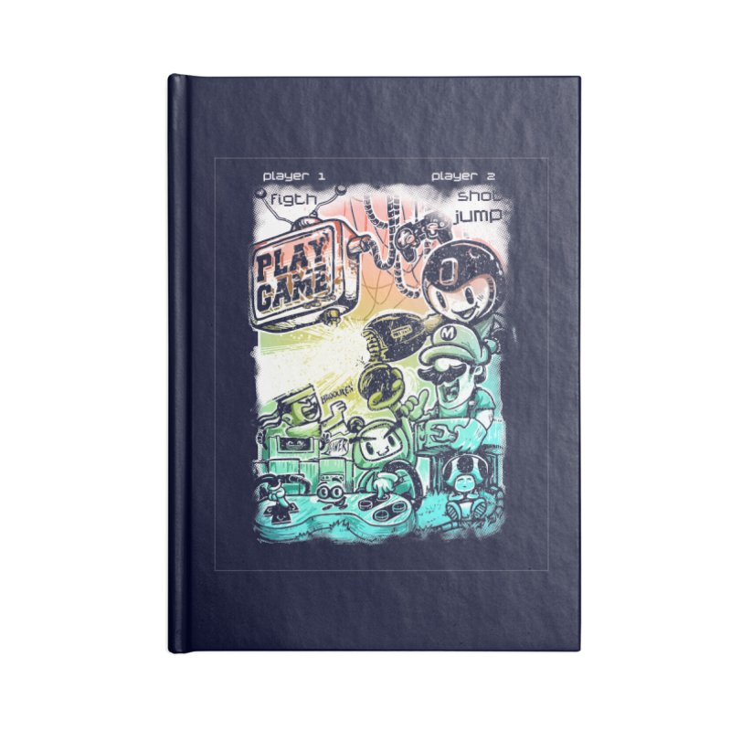 GAMEANDO Accessories Blank Journal Notebook by T.JEF