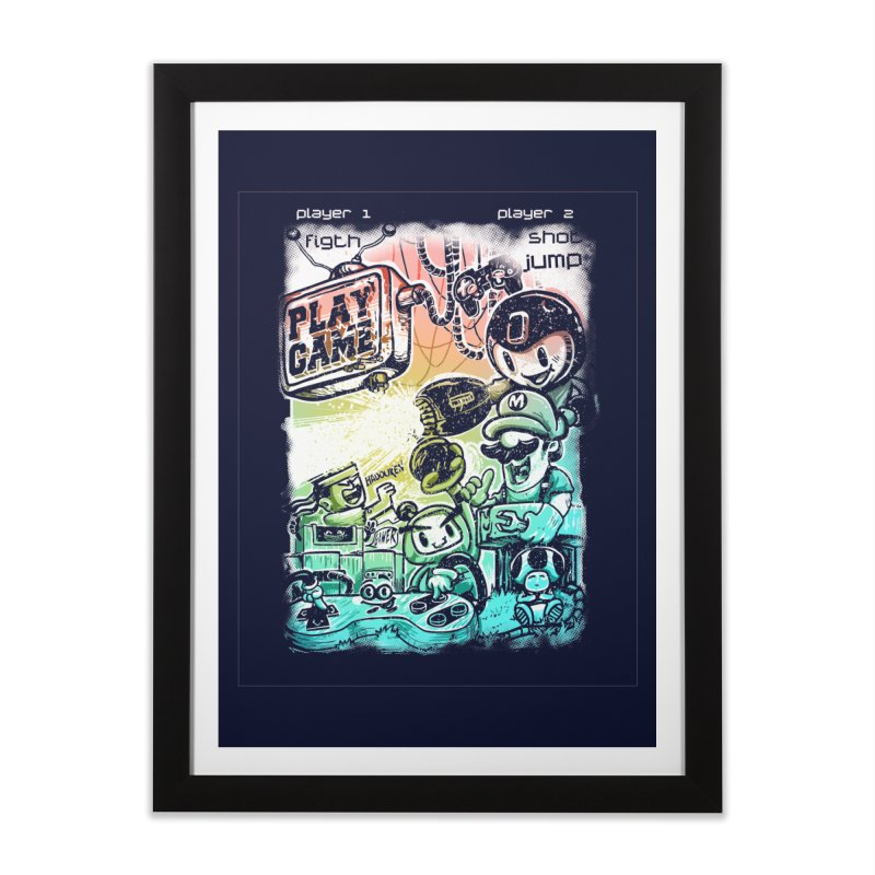 GAMEANDO Home Framed Fine Art Print by T.JEF