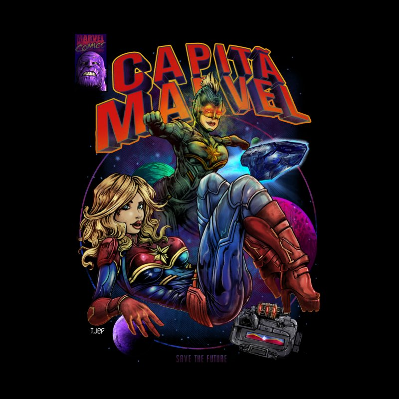 CAPITAIN MARVEL Home Mounted Aluminum Print by T.JEF