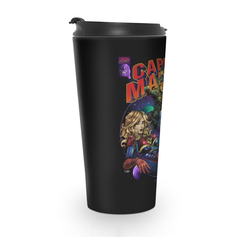 CAPITAIN MARVEL Accessories Travel Mug by T.JEF