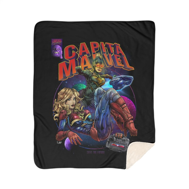 CAPITAIN MARVEL Home Sherpa Blanket Blanket by T.JEF