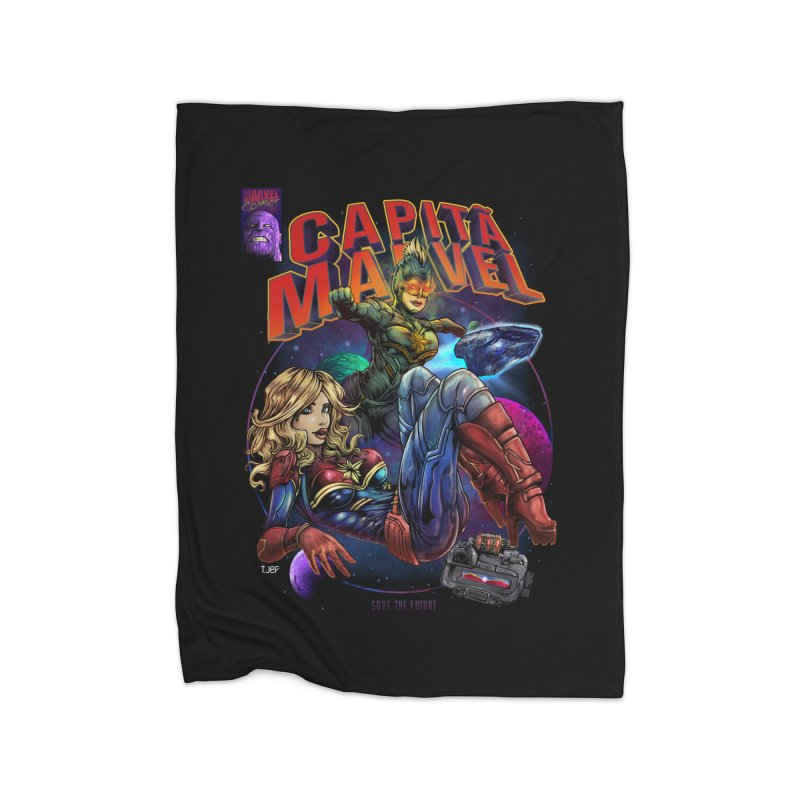 CAPITAIN MARVEL Home Blanket by T.JEF