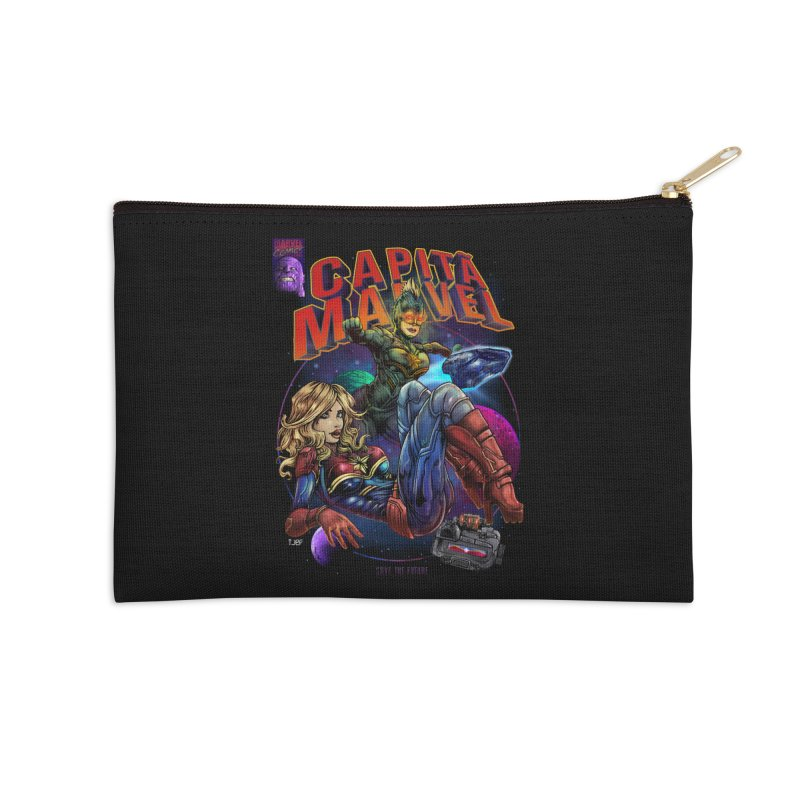 CAPITAIN MARVEL Accessories Zip Pouch by T.JEF