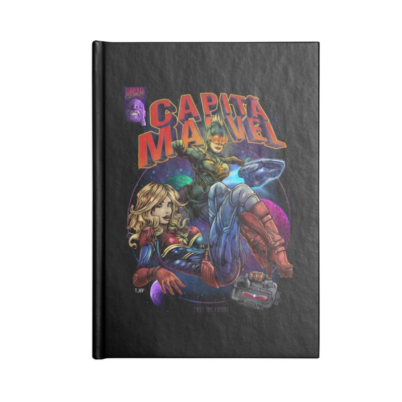 CAPITAIN MARVEL Accessories Lined Journal Notebook by T.JEF