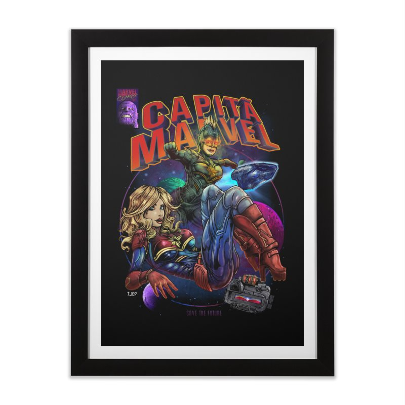 CAPITAIN MARVEL Home Framed Fine Art Print by T.JEF