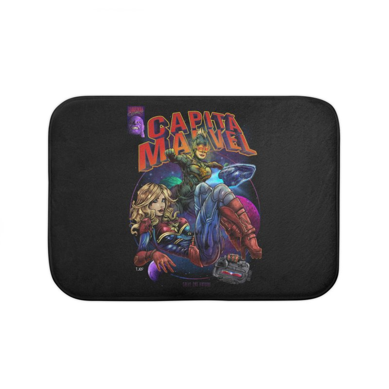 CAPITAIN MARVEL Home Bath Mat by T.JEF
