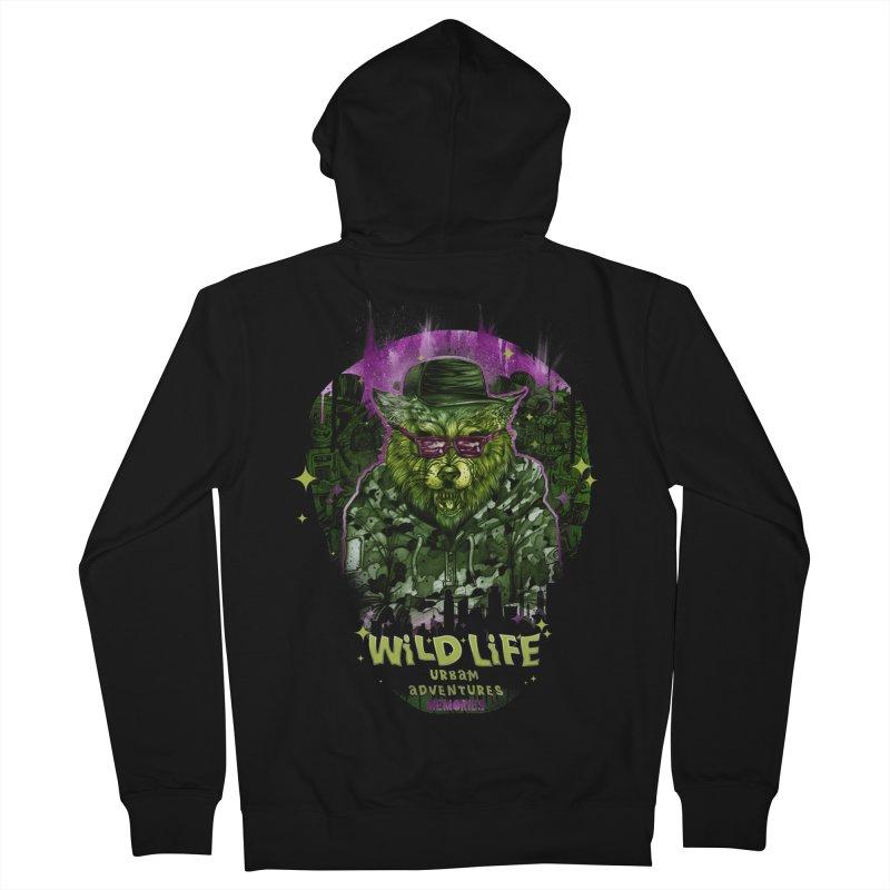 WILD LIFE  Men's Zip-Up Hoody by T.JEF