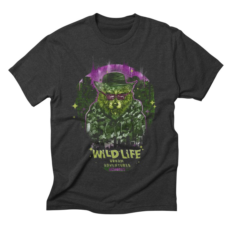 WILD LIFE  Men's Triblend T-Shirt by T.JEF