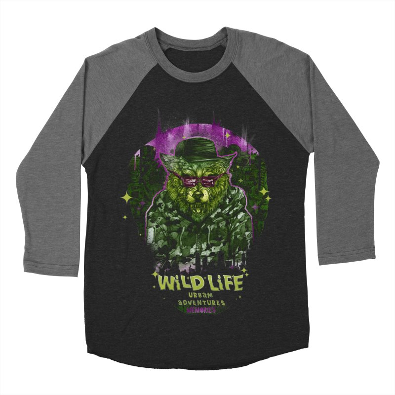 WILD LIFE  Men's Baseball Triblend T-Shirt by T.JEF