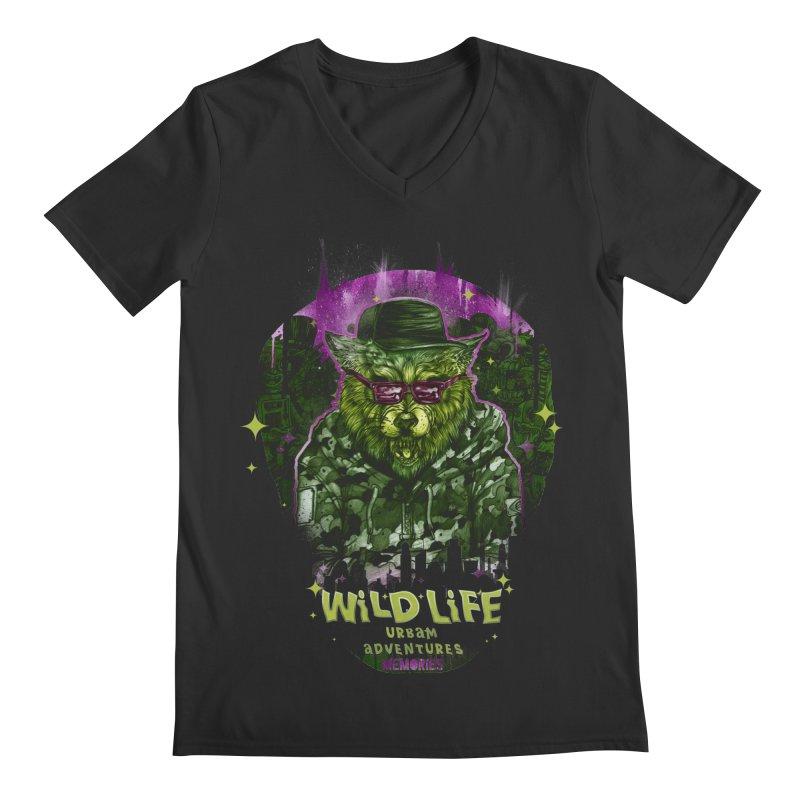 WILD LIFE  Men's V-Neck by T.JEF