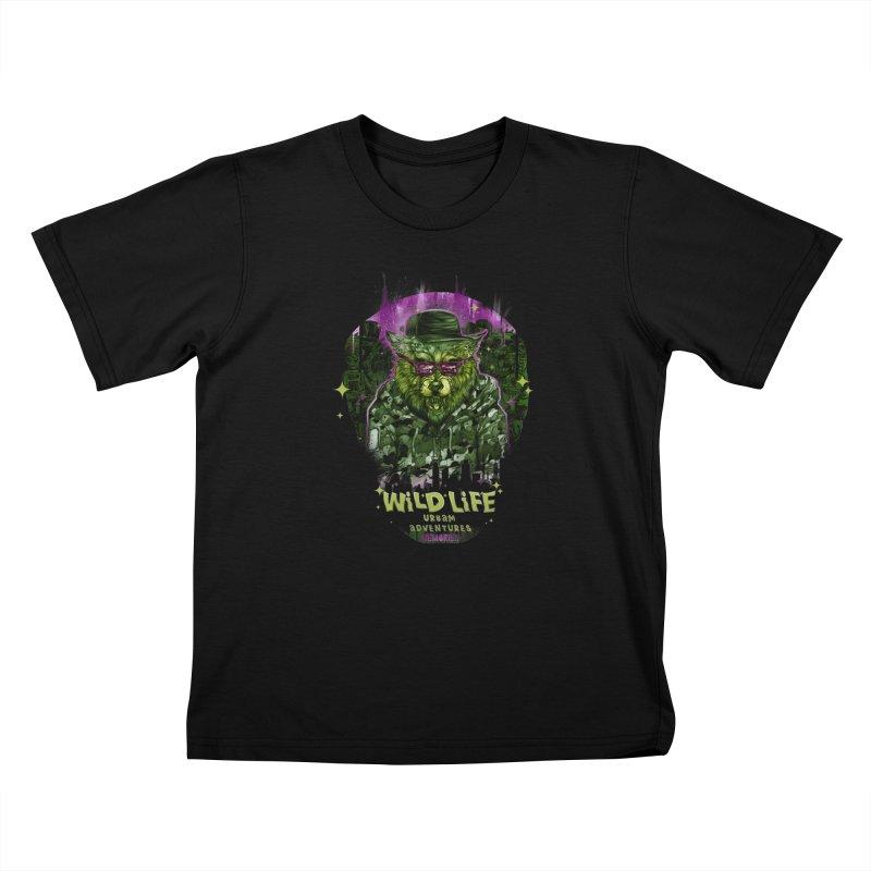 WILD LIFE  Kids T-Shirt by T.JEF
