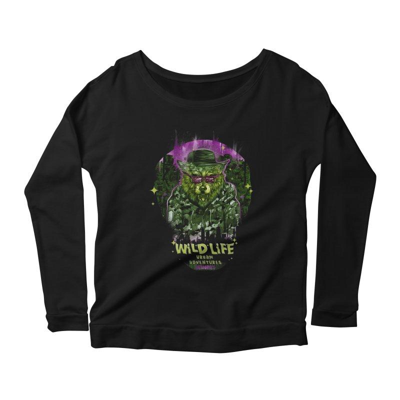WILD LIFE  Women's Scoop Neck Longsleeve T-Shirt by T.JEF