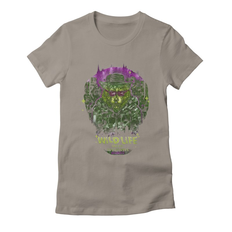 WILD LIFE  Women's Fitted T-Shirt by T.JEF