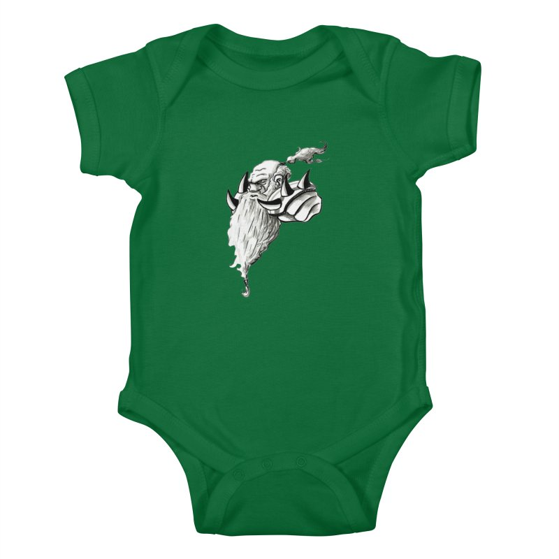 Dwarve Chieftan Kids Baby Bodysuit by tjjudgeillustration's Artist Shop