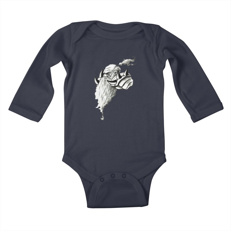 Dwarve Chieftan Kids Baby Longsleeve Bodysuit by tjjudgeillustration's Artist Shop