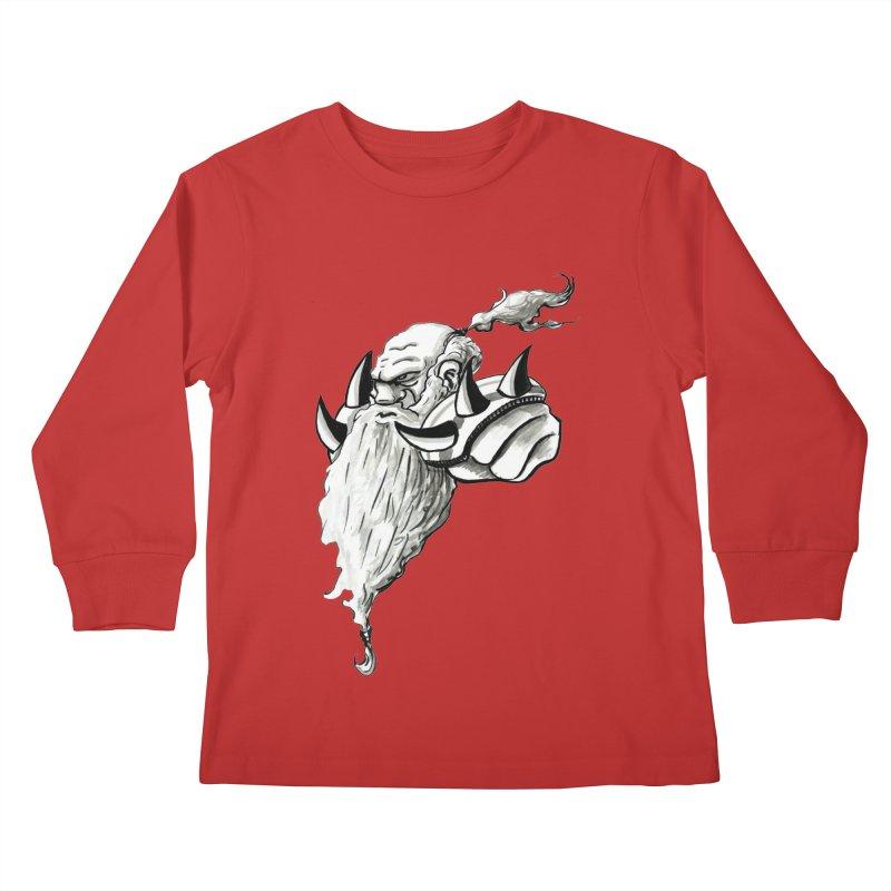 Dwarve Chieftan Kids Longsleeve T-Shirt by tjjudgeillustration's Artist Shop
