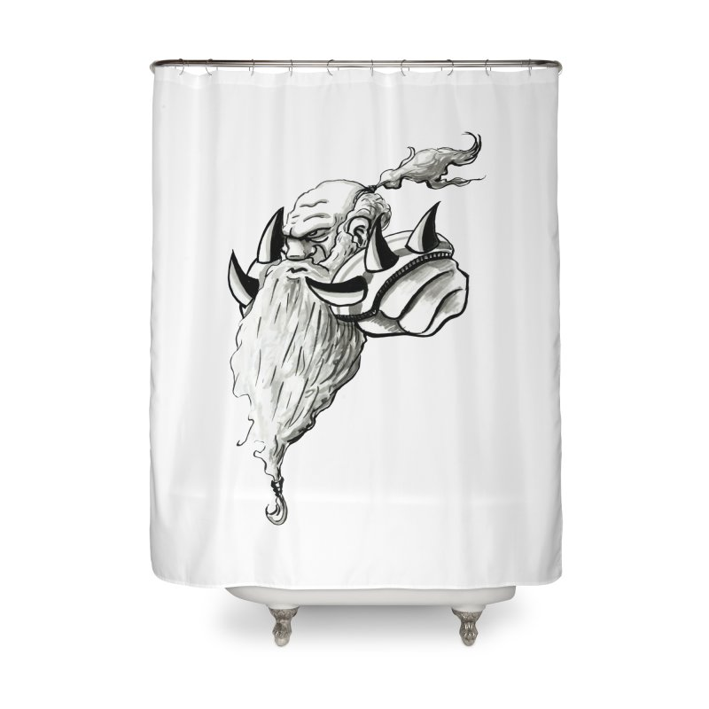 Dwarve Chieftan Home Shower Curtain by tjjudgeillustration's Artist Shop
