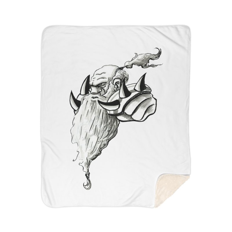 Dwarve Chieftan Home Sherpa Blanket Blanket by tjjudgeillustration's Artist Shop