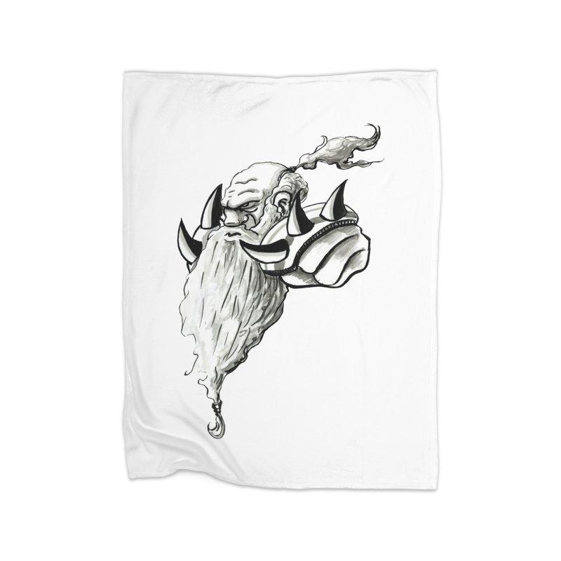 Dwarve Chieftan Home Fleece Blanket Blanket by tjjudgeillustration's Artist Shop