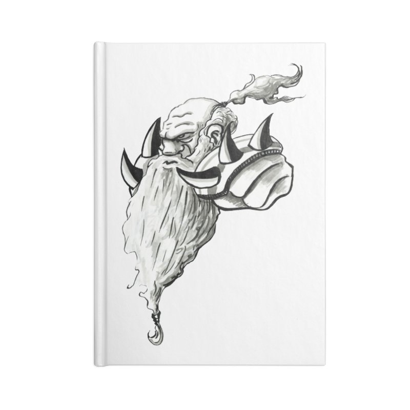 Dwarve Chieftan Accessories Lined Journal Notebook by tjjudgeillustration's Artist Shop