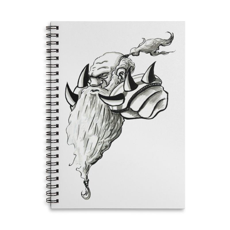 Dwarve Chieftan Accessories Notebook by tjjudgeillustration's Artist Shop