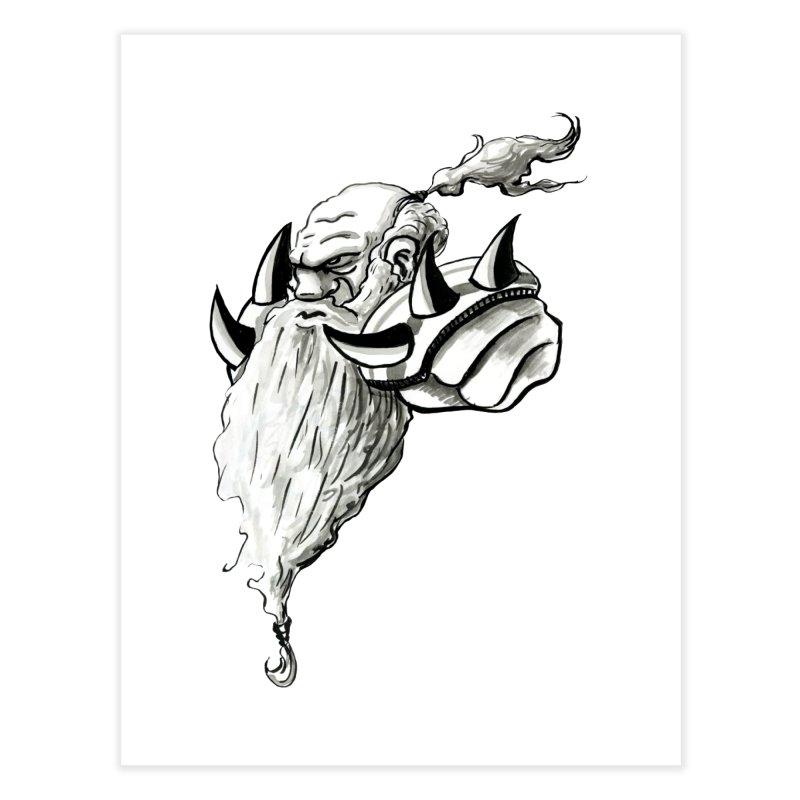 Dwarve Chieftan Home Fine Art Print by tjjudgeillustration's Artist Shop