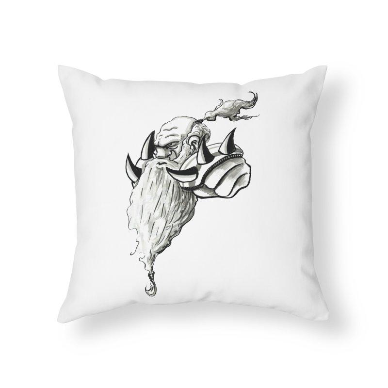 Dwarve Chieftan Home Throw Pillow by tjjudgeillustration's Artist Shop