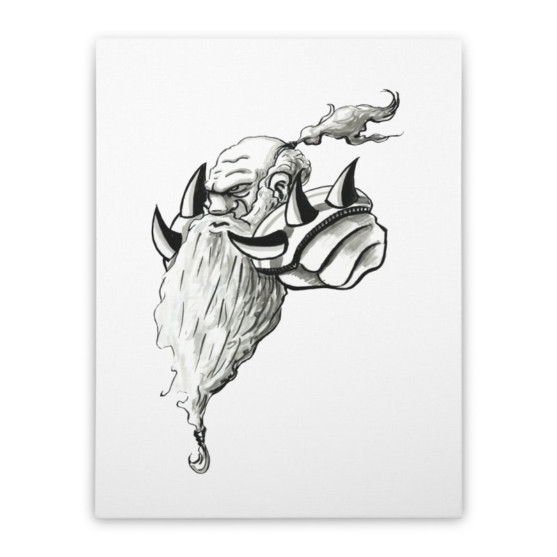 Dwarve Chieftan Home Stretched Canvas by tjjudgeillustration's Artist Shop