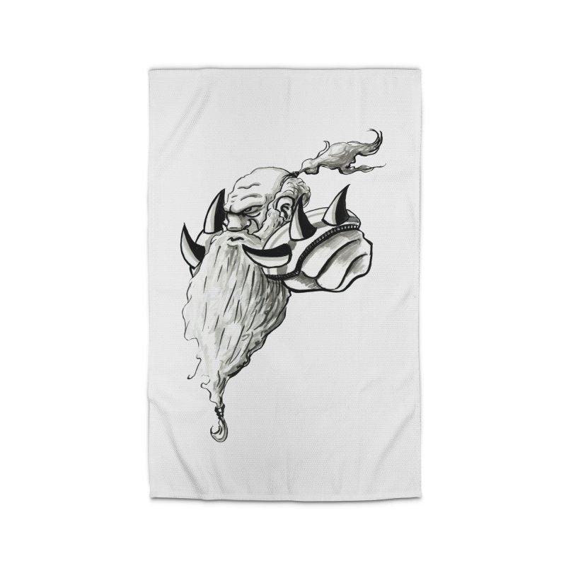 Dwarve Chieftan Home Rug by tjjudgeillustration's Artist Shop
