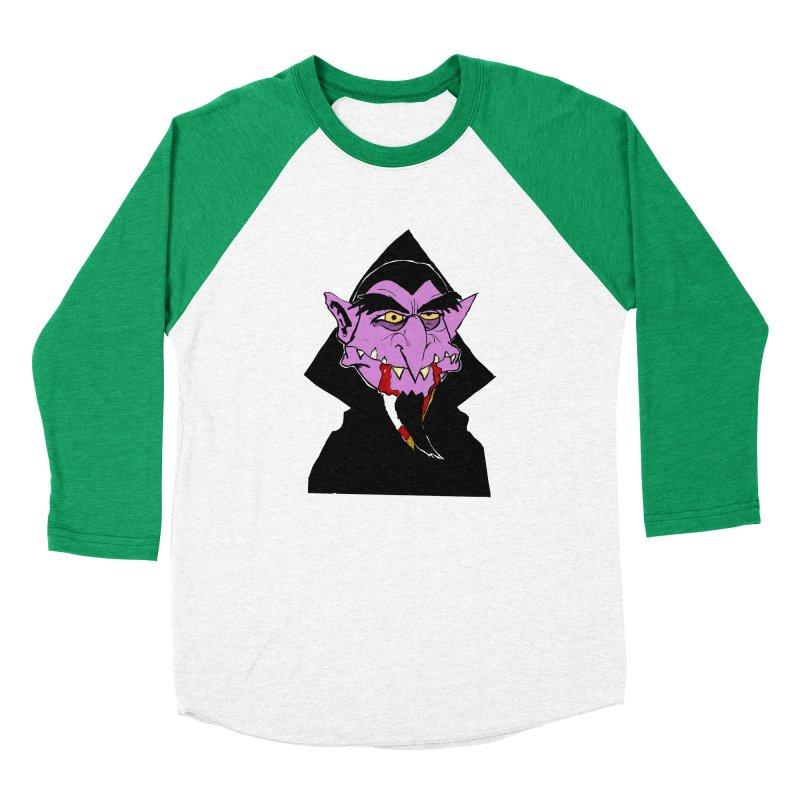 Count Von Count Men's Baseball Triblend Longsleeve T-Shirt by tjjudgeillustration's Artist Shop
