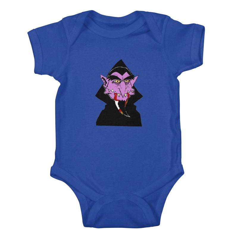 Count Von Count Kids Baby Bodysuit by tjjudgeillustration's Artist Shop
