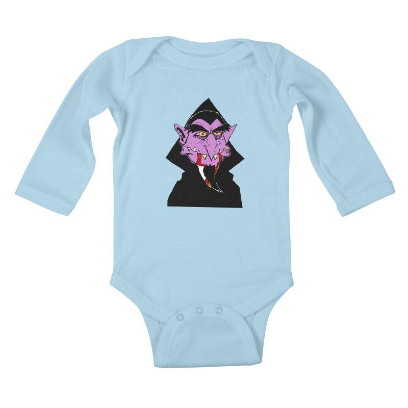 Count Von Count Kids Baby Longsleeve Bodysuit by tjjudgeillustration's Artist Shop