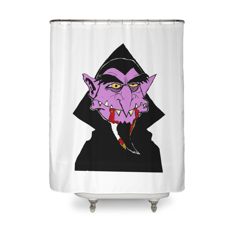 Count Von Count Home Shower Curtain by tjjudgeillustration's Artist Shop
