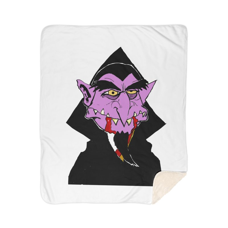 Count Von Count Home Sherpa Blanket Blanket by tjjudgeillustration's Artist Shop
