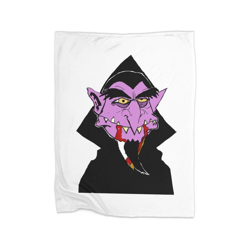 Count Von Count Home Fleece Blanket Blanket by tjjudgeillustration's Artist Shop