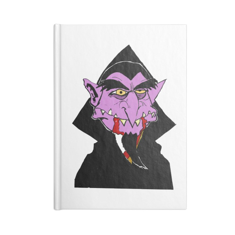 Count Von Count Accessories Lined Journal Notebook by tjjudgeillustration's Artist Shop