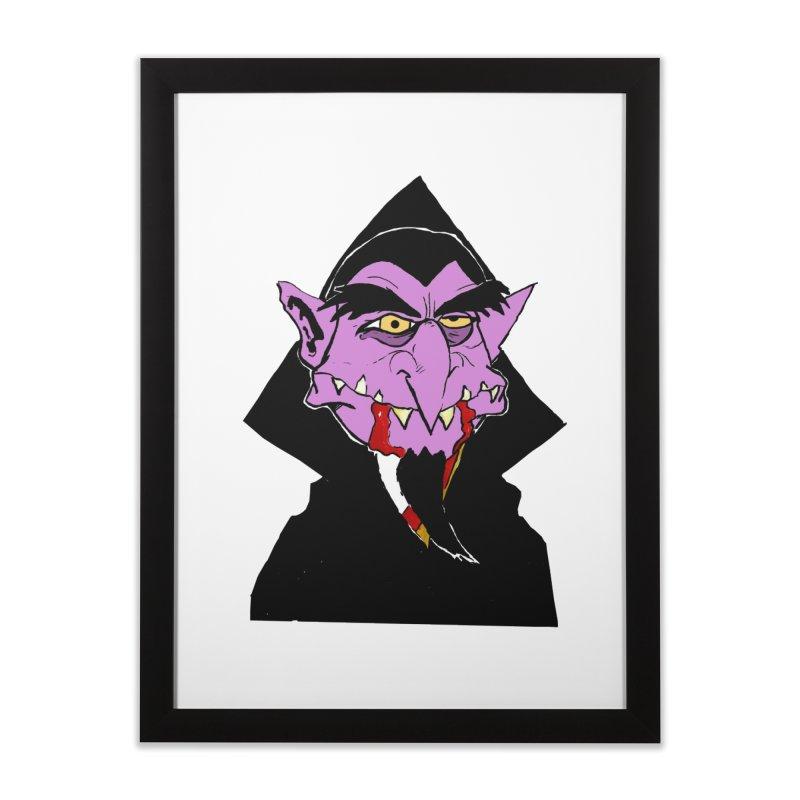 Count Von Count Home Framed Fine Art Print by tjjudgeillustration's Artist Shop