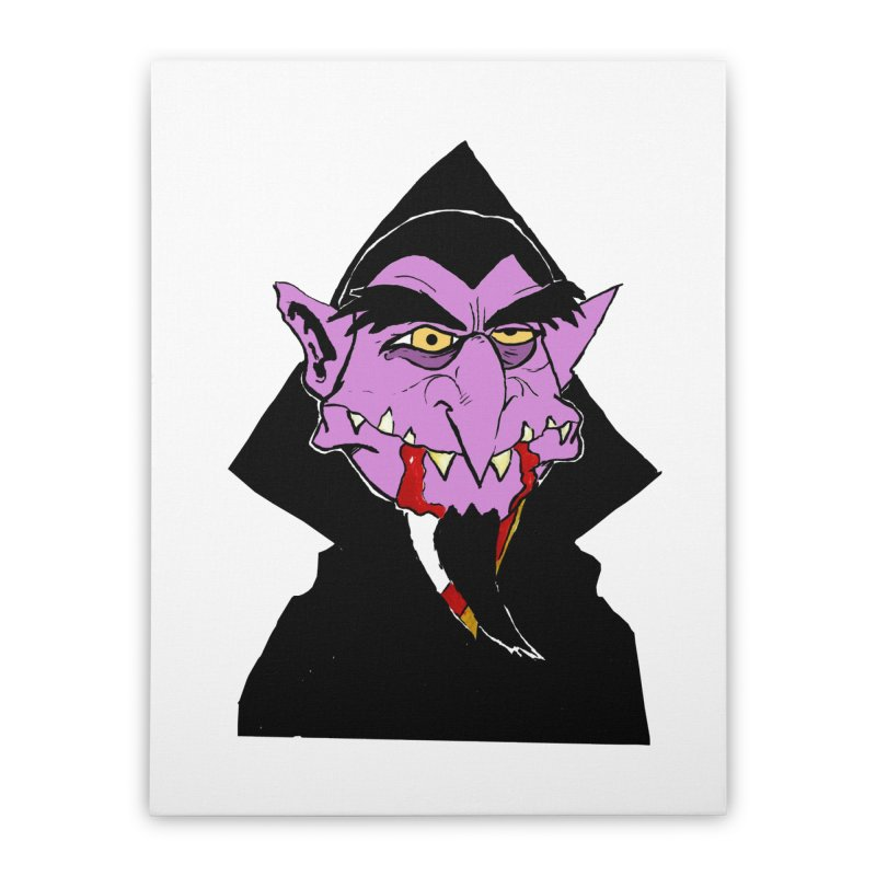 Count Von Count Home Stretched Canvas by tjjudgeillustration's Artist Shop