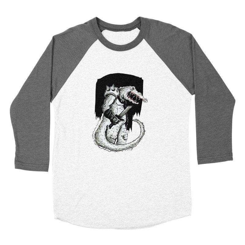 Croc Soldier Men's Baseball Triblend Longsleeve T-Shirt by tjjudgeillustration's Artist Shop