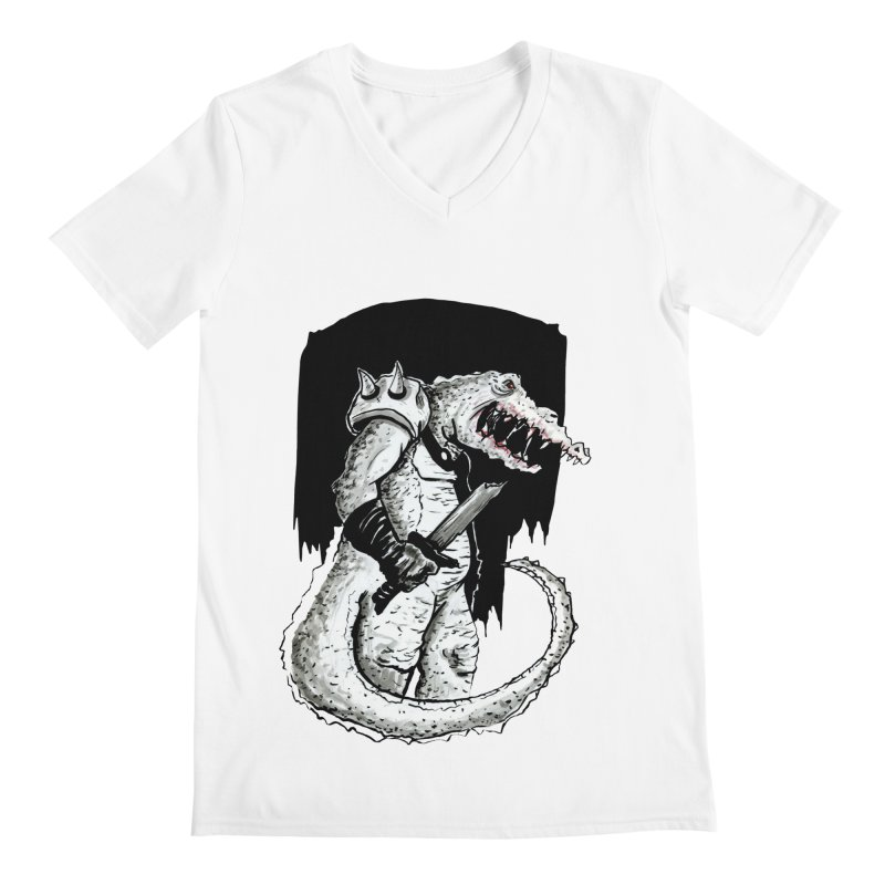 Croc Soldier Men's V-Neck by tjjudgeillustration's Artist Shop