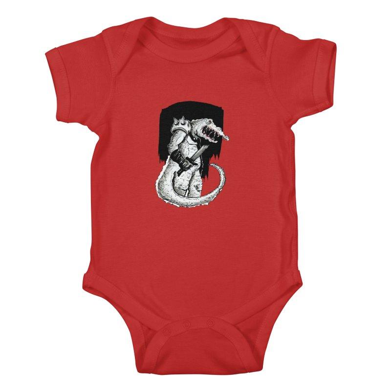 Croc Soldier Kids Baby Bodysuit by tjjudgeillustration's Artist Shop