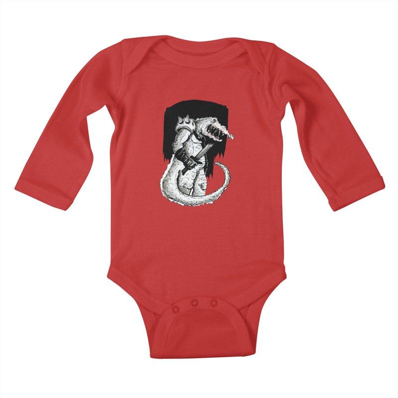 Croc Soldier Kids Baby Longsleeve Bodysuit by tjjudgeillustration's Artist Shop