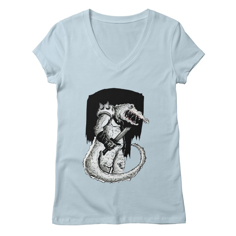 Croc Soldier Women's V-Neck by tjjudgeillustration's Artist Shop