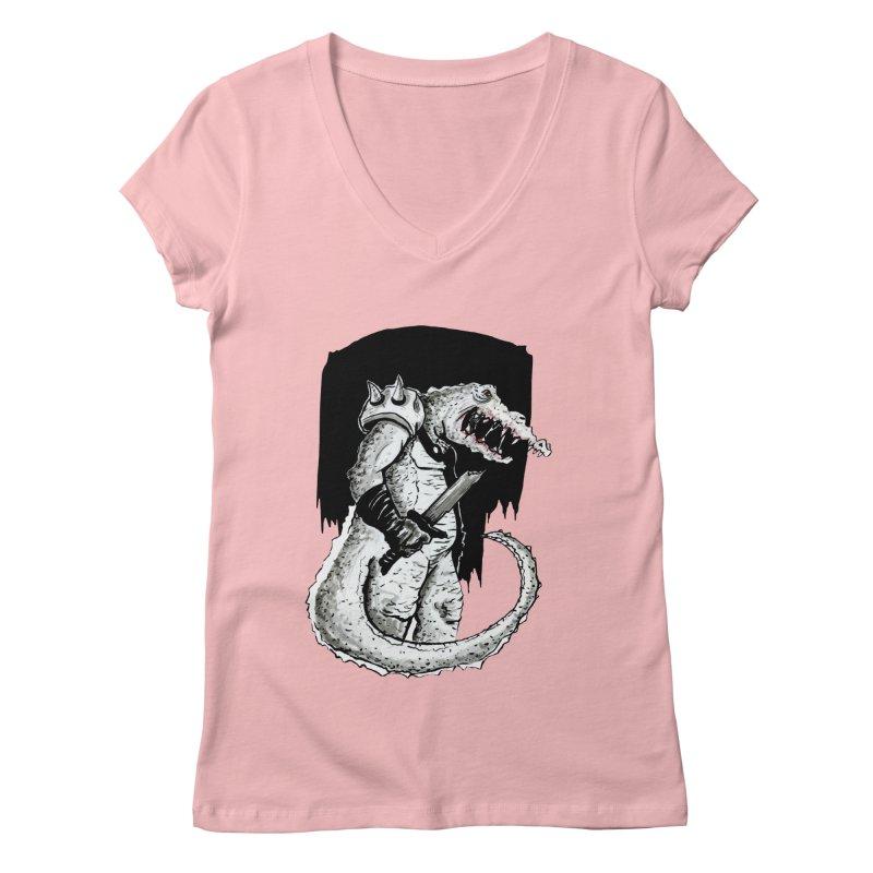 Croc Soldier Women's V-Neck by tjjudgeillustration's Artist Shop