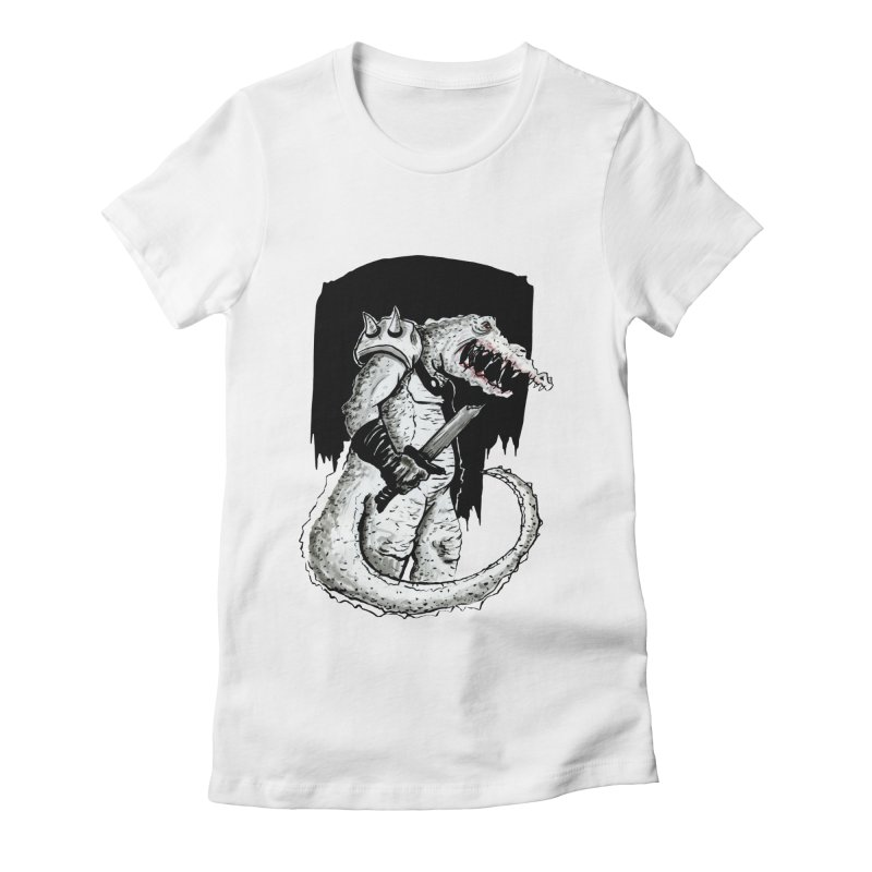 Croc Soldier Women's Fitted T-Shirt by tjjudgeillustration's Artist Shop