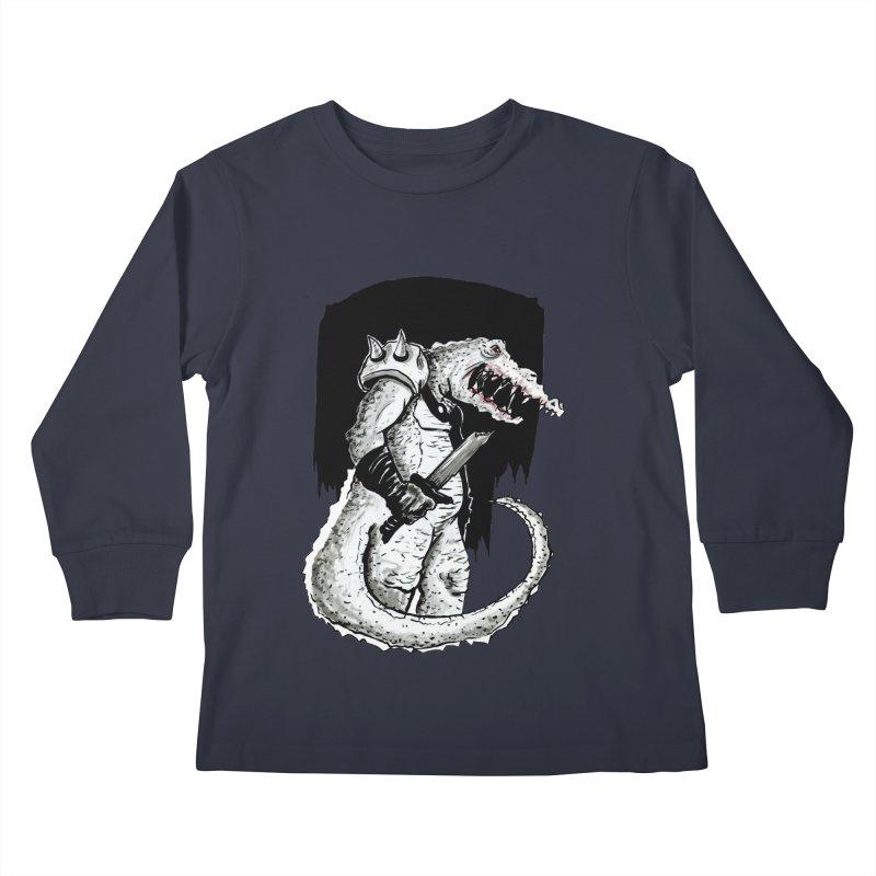 Croc Soldier Kids Longsleeve T-Shirt by tjjudgeillustration's Artist Shop
