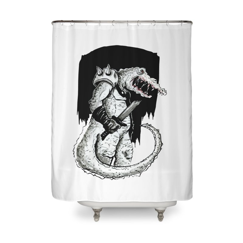Croc Soldier Home Shower Curtain by tjjudgeillustration's Artist Shop