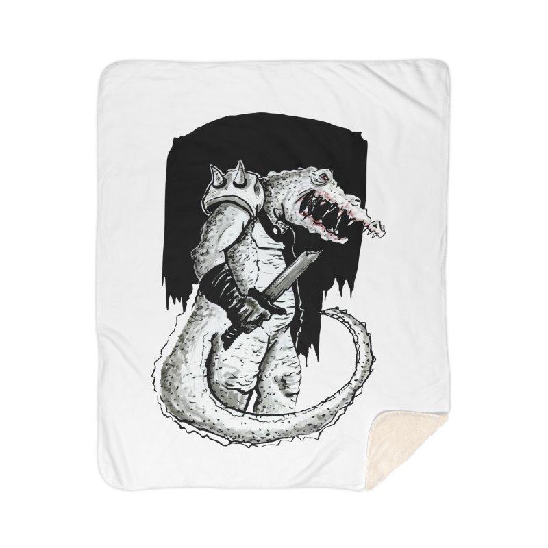 Croc Soldier Home Blanket by tjjudgeillustration's Artist Shop