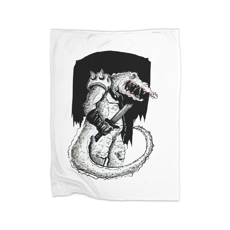 Croc Soldier Home Fleece Blanket Blanket by tjjudgeillustration's Artist Shop