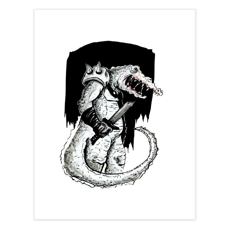 Croc Soldier Home Fine Art Print by tjjudgeillustration's Artist Shop
